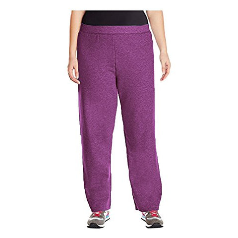 Just My Size Womens Plus-Size Fleece Sweatpant (5X, Plum Port)