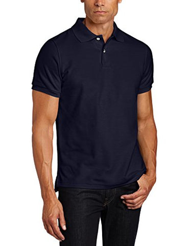 Lee Uniforms Men's Short Sleve Uniforms Polo, Navy, Medium