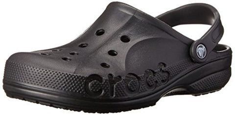 crocs Unisex Baya Clog, Black, 10 M (D) US Men / 12 M (B) US Women