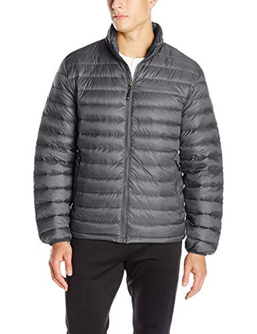 32 Degrees Men's Nano Light Packable Down Jacket, Asphalt, Small