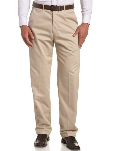 Haggar Men's Work To Weekend Hidden Expandable Waist No Iron Plain Front Pant,Khaki,36x34