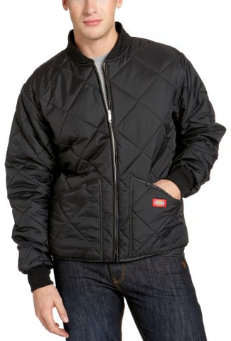 Dickies Men's Water Resistant Diamond Quilted Nylon Jacket, Black, Medium