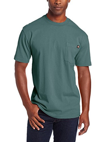 Dickie's Men's Heavyweight Crew Neck Short Sleeve Tee Big-tall,Lincoln Green,2X-Large Tall