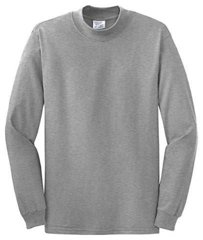 Port & Company Men's Mock Turtleneck - X-Large - Athletic Heather