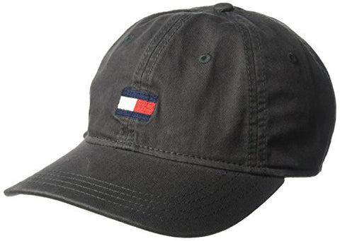 Tommy Hilfiger Men's Ardin Dad Hat, Charcoal, One Size