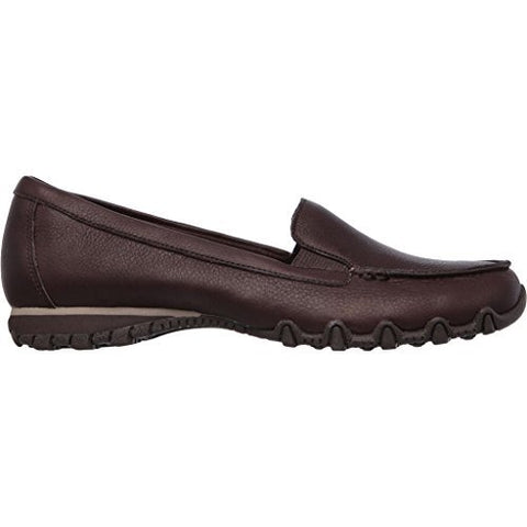 Skechers Women's Relaxed Fit Bikers Lamb Loafer,Chocolate,US 8.5 M