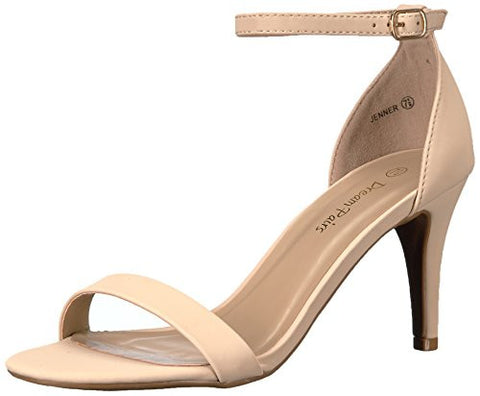 Dream Pairs Women's Jenner Dress Pump, NUDE NUBUCK, 8.5 M US