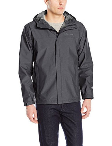 Columbia Men's Diablo Creek Rain Shell, Shark, Medium