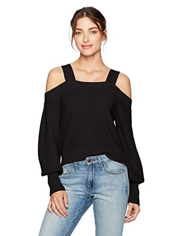 The Fifth Label Women's Lexi Cold Shoulder Sweater, Black, X-Small