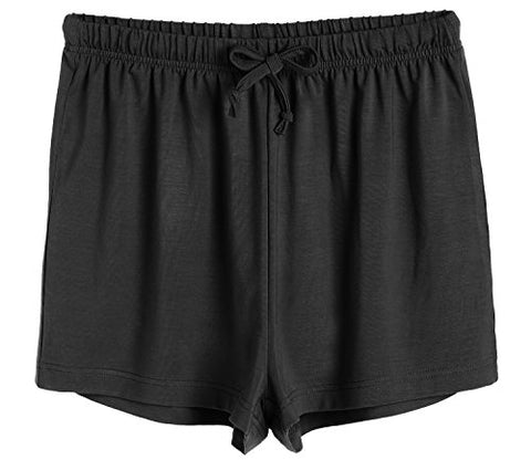 Latuza Women's Boxer Shorts Pajama Bottoms L Black