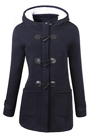 VOGRYE Womens Winter Fashion Outdoor Warm Wool Blended Classic Pea Coat Jacket (Medium )