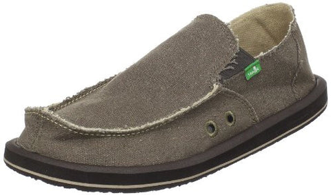 Sanuk Men's Vagabond Slip On, Brown, 11 M US