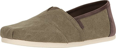 TOMS Men's Seasonal Classics Olive Washed Canvas Loafer