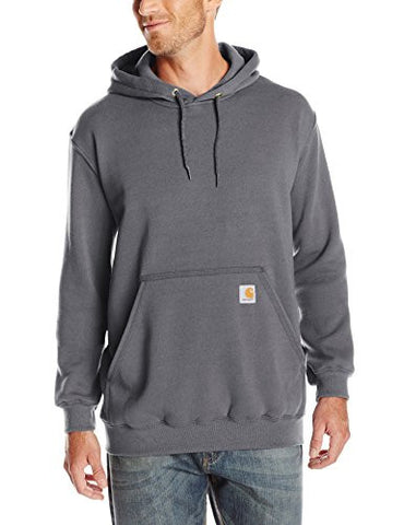 Carhartt Men's Midweight Sweatshirt Hooded Pullover Original Fit K121,Charcoal Heather,Large