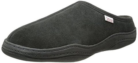 Tamarac by Slippers International Men's Scuffy Clog Slipper, Charcoal Grey, 10 M US