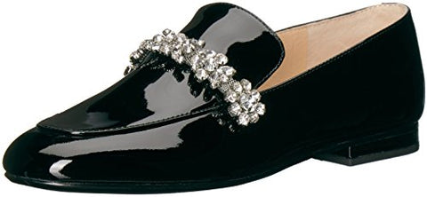 Ivanka Trump Women's Wareen Loafer Flat, Black, 9 Medium US