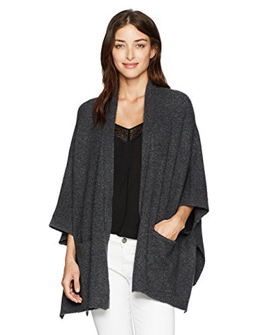 Michael Stars Women's Cozy Knit Cape with Pockets, Oxide, S
