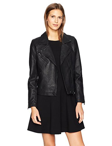 [blanknyc] Women's Moto Jacket, onyx, Large