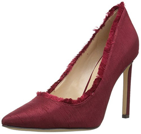 Nine West Women's Thayer Fabric Pump, Red, 5.5 M US