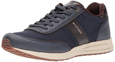 Tommy Hilfiger Men's Link Sneaker, Navy, 10.5 Medium US