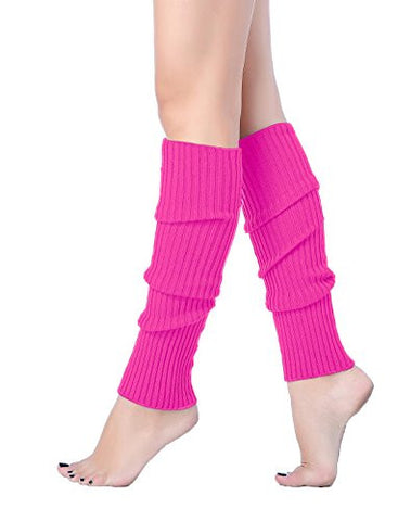 Women Winter Warm Leg Warmers Knitted Long Socks (one size, Rose)