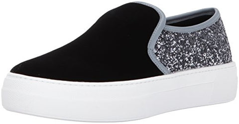 Aldo Women's Capucius Fashion Sneaker, Black Velvet, 8.5 B US