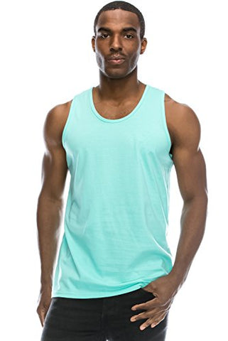 Mens Hipster Hip Hop Basic Casual Solid MINT Tank Top Large