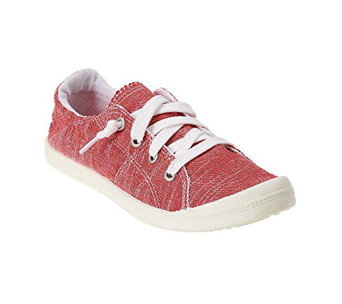 Not Rated Women's Rae Sneaker, Red, 8.5 M US