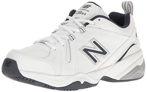 New Balance Men's MX608V4 Training Shoe,White/Navy,10 4E US