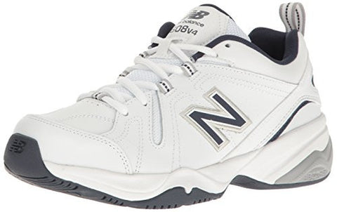 New Balance Men's MX608V4 Training Shoe,White/Navy,10.5 D US