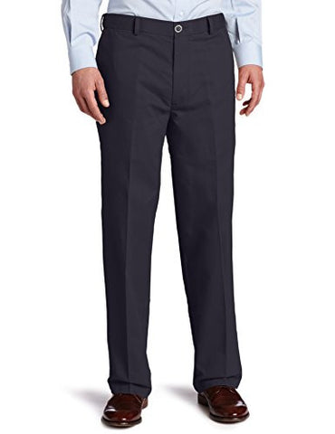 Dockers Men's Comfort Khaki Stretch Relaxed-Fit Flat-Front Pant, Dockers Navy (Stretch), 36W x 34L