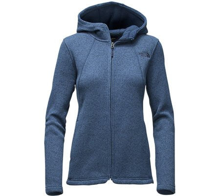 The North Face Crescent Full Zip Womens Jacket - X-Small/Shady Blue Heather