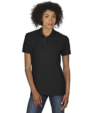 Gildan womens DryBlend 6.3 oz. Double Pique Sport Shirt(G728L)-BLACK-XL
