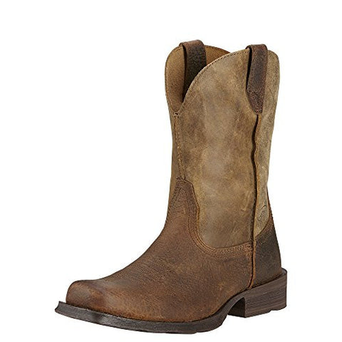 Ariat Men's Rambler Wide Square Toe Western Cowboy Boot, Earth/Brown Bomber, 11.5 M US