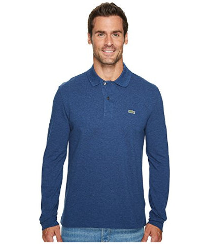 Lacoste Men's Long Sleeve Classic Chine Pique Polo-l1313-51, Anchor Chine, 5