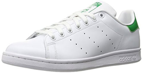 adidas Men's Originals Stan Smith Sneaker, White/White/Fairway, 12 M US