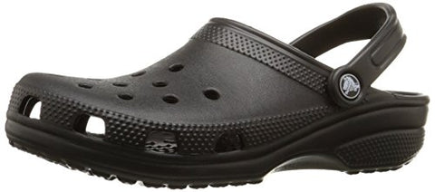 crocs Unisex Classic Clog,  Black, 10 US Men / 12 US Women