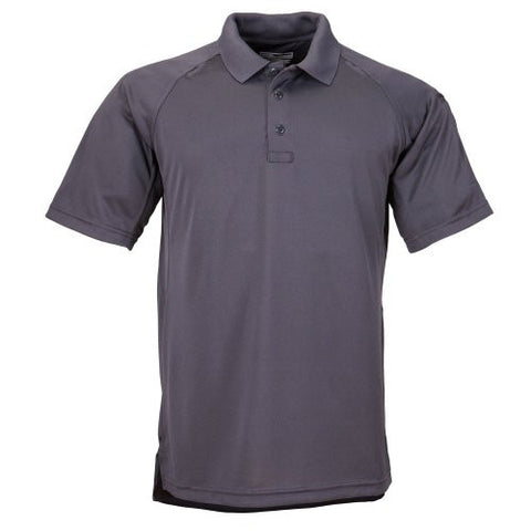 5.11 Tactical #71049 Performance Polo Short Sleeve Shirt (Charcoal, Large)