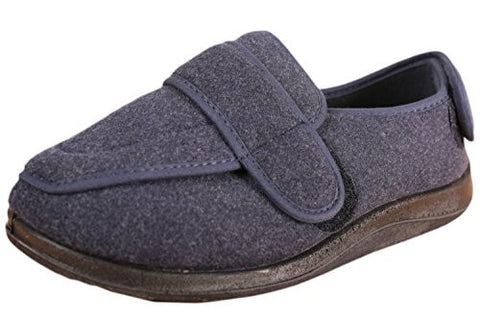 Foamtreads Men's Physician Slipper,9.5 D(M) US,Navy