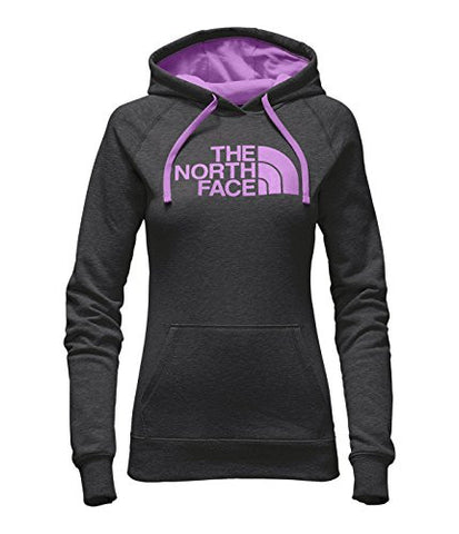 The North Face Women's Half Dome Hoodie TNF Dark Grey Heather/Violet Tulle S