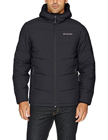 Columbia Men's Lone Fir 650 Turbodown Hooded Jacket, XX-Large, Black