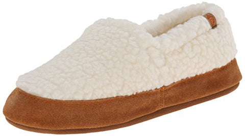 ACORN Women's Moc Slipper ,  Buff Popcorn,  Large/8-9 M US