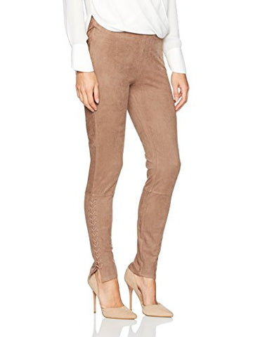 Lyssé Women's Mission Suede Legging, Latte, L