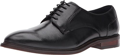 Steve Madden Men's Bozlee Oxford, Black Leather, 10 M US