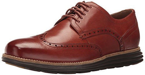 Cole Haan Men's Original Grand Shortwing Oxford, Woodbury/Java, 10 Wide US