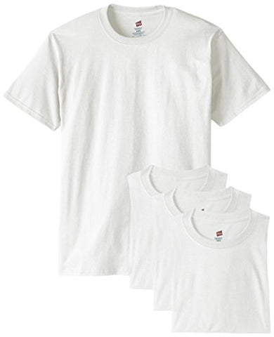 Hanes Men's ComfortSoft T-Shirt (Pack of 4), White, X-Large
