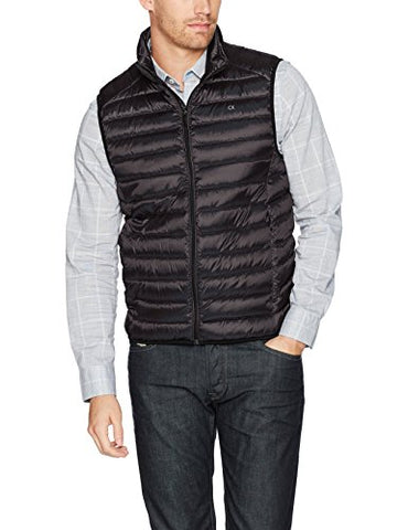Calvin Klein Men's Packable Vest, Black, Medium