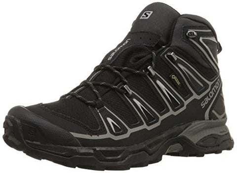 Salomon Men's X Ultra Mid 2 GTX Multifunctional Hiking Boot, Black/Black/Aluminum, 10.5 M US