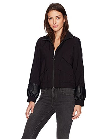 Guess Women's Long Sleeve Reagan Jacket, Jet Black a, L
