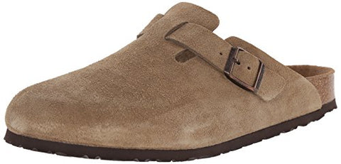 Birkenstock Unisex Boston Soft Footbed, Taupe Suede, 41 M EU